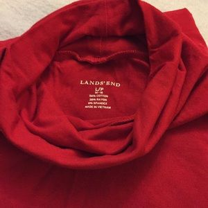 2 Lands End Turtlenecks - Bundle Size L